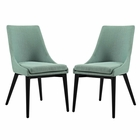 Modway Viscount Dining Side Chairs Upholstered Fabric Set of 2 in Laguna MY-EEI-2745-LAG-SET