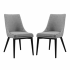 Modway Viscount Dining Side Chairs Upholstered Fabric Set of 2 in Light Gray MY-EEI-2745-LGR-SET