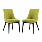 Modway Viscount Dining Side Chairs Upholstered Fabric Set of 2 in Wheatgrass MY-EEI-2745-WHE-SET