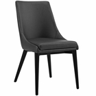 Modway Viscount Faux Leather Dining Side Chair in Black MY-EEI-2226-BLK