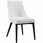 Modway Viscount Faux Leather Dining Side Chair in White MY-EEI-2226-WHI