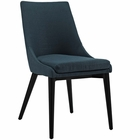 Modway Viscount Upholstered Fabric Dining Side Chair in Azure MY-EEI-2227-AZU