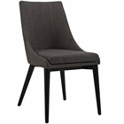 Modway Viscount Upholstered Fabric Dining Side Chair in Brown MY-EEI-2227-BRN