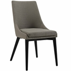 Modway Viscount Upholstered Fabric Dining Side Chair in Granite MY-EEI-2227-GRA