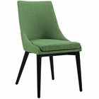 Modway Viscount Upholstered Fabric Dining Side Chair in Kelly Green MY-EEI-2227-GRN