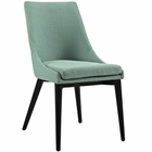 Modway Viscount Upholstered Fabric Dining Side Chair in Laguna MY-EEI-2227-LAG