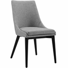 Modway Viscount Upholstered Fabric Dining Side Chair in Light Gray MY-EEI-2227-LGR