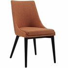 Modway Viscount Upholstered Fabric Dining Side Chair in Orange MY-EEI-2227-ORA