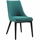 Modway Viscount Upholstered Fabric Dining Side Chair in Teal MY-EEI-2227-TEA