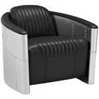 Modway Visibility Faux Leather Lounge Chair in Black MY-EEI-2071-BLK