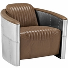 Modway Visibility Faux Leather Lounge Chair in Brown MY-EEI-2071-BRN