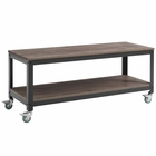 Modway Vivify Tiered Serving or TV Stand in Gray Walnut MY-EEI-2855-GRY-WAL