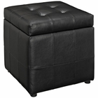 Modway Volt Storage Faux Leather Ottoman in Black MY-EEI-1044-BLK