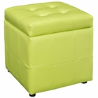 Modway Volt Storage Faux Leather Ottoman in Light Green MY-EEI-1044-LGN
