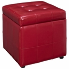 Modway Volt Storage Faux Leather Ottoman in Red MY-EEI-1044-RED