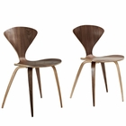 Modway Vortex Dining Chairs Set of 2 in Dark Walnut MY-EEI-899