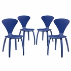 Modway Vortex Dining Side Chairs Set of 4 in Blue MY-EEI-2000-BLU-SET