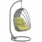 Modway Whisk Outdoor Patio Swing Chair With Stand in Peridot MY-EEI-2275-PER-SET