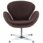 Modway Wing Upholstered Fabric Chair in Dark Brown MY-EEI-137-DBR