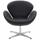Modway Wing Upholstered Fabric Chair in Dark Gray MY-EEI-137-DGR