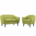 Modway Wit 2 Piece Upholstered Fabric Living Room Set in Wheat MY-EEI-1770-WHE-SET
