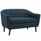 Modway Wit Upholstered Fabric Loveseat in Azure MY-EEI-1391-AZU