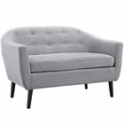 Modway Wit Upholstered Fabric Loveseat in Light Gray MY-EEI-1391-LGR