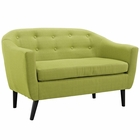 Modway Wit Upholstered Fabric Loveseat in Wheatgrass MY-EEI-1391-WHE