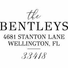 Return Address Stamp - The Bentleys