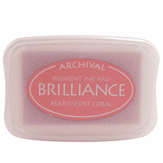 Brilliance Ink Pads - Pearlescent Coral