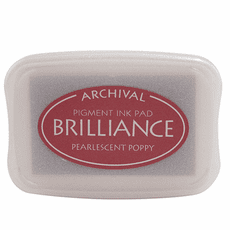 Brilliance Ink Pads - Pearlescent Poppy