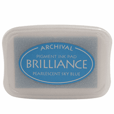 Brilliance Ink Pads - Pearlescent Sky Blue