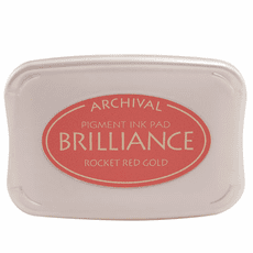 Brilliance Ink Pads - Rocket Red Gold