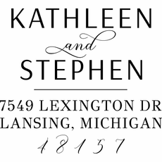 Couple Address Stamp - The Kathleen