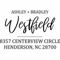 Custom Address Ink Stamp - The Westfield 2