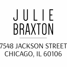 Return Address Stamp - The Braxton