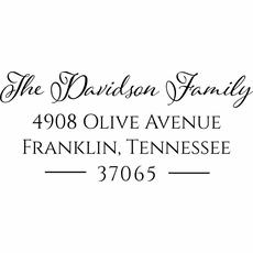 Return Address Stamp - The Davidson
