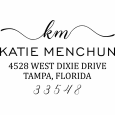 Self Inking Return Address Stamp - The Dixie