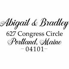 Return Address Stamp - The Abigail