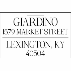 Self Inking Return Address Stamp - The Giardino