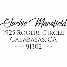 Personalized Rubber Stamp - The Jackie