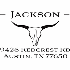 Address Stamp - The Jackson Bull Horn