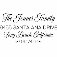 Family Name and Address Stamp - The Jenner