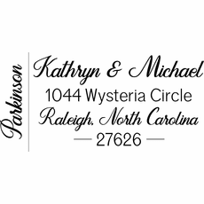 Self Inking Address Stamp - The Kathryn