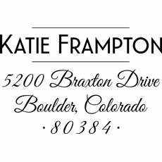Address Stamp - The Katie