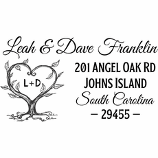 Love Tree Return Address Stamp - The Leah