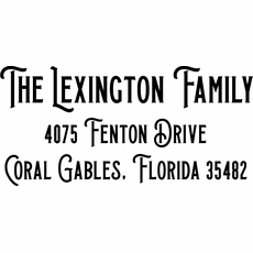 Family Name and Address Stamp - The Lexington