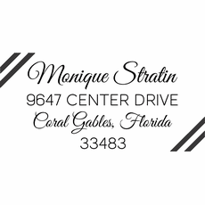 Return Address Stamp - The Monique