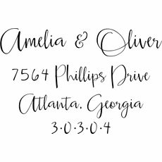 Self Inking Return Address Stamp - The Oliver