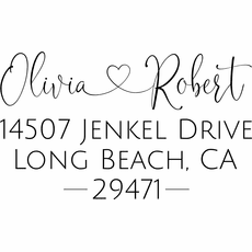 Personalized Address Stamp - The Olivia & Robert